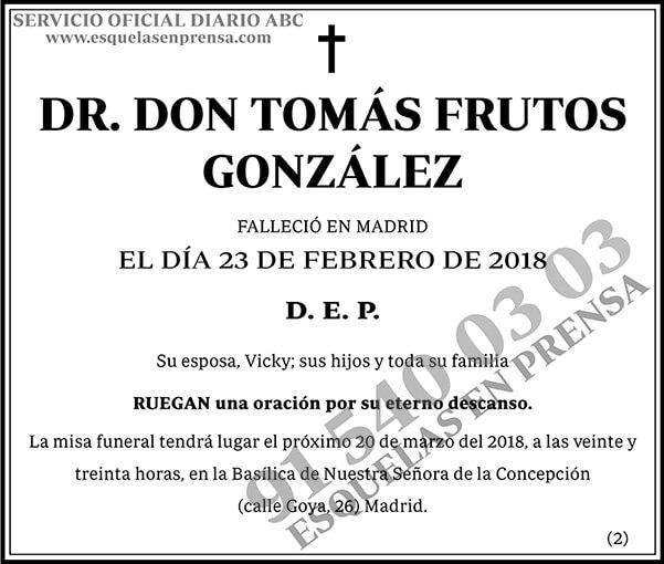 Tomás Frutos González